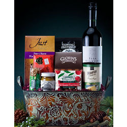 Sweet and Heat Wine Gift Basket
