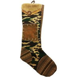 Rustic Camouflage Christmas Moose Stocking
