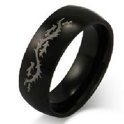Men's Stainless Steel Dragon's Tail Ring