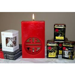 Tea Tasting and Red Candle Gift Set