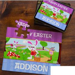 25-Piece Peter Cottontail Personalized Easter Kid's Puzzle