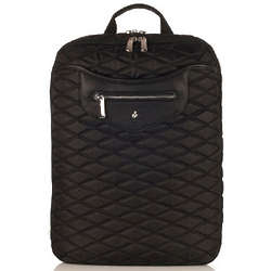 Quilted Black Nylon Backpack