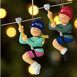 Personalized Zip Line Ornament