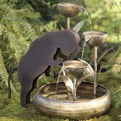 3-D Metal Cat Fountain