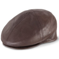 Leather Coppola Cap