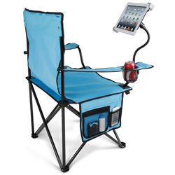 Lawn Chair with Adjustable Tablet Holder