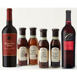 Stonewall Kitchen Grilling Sauces and Wine Gift Set