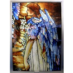 Tiffany's Resurrection Angel Stained Glass Panel