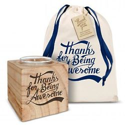 Thanks for Being Awesome Personalized Candle Gift Set