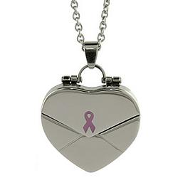 What Cancer Cannot Do Engravable Secret Message Heart Locket