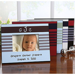 Baby Boy Picture Frame with Monogram