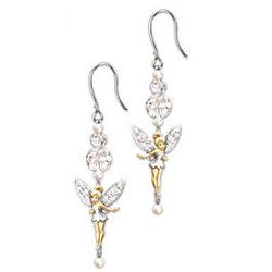 Disney Tinker Bell Dazzle Beaded Dangle Earrings