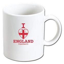 I Heart England Football Mug