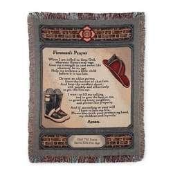 Fireman's Prayer Throw Blanket