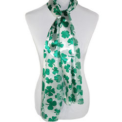 Lucky Charm Long Satin Scarf