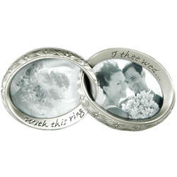 Conjoined Double Wedding Ring Picture Frame