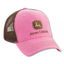 John Deere Pink and Chocolate Mesh Back Cap