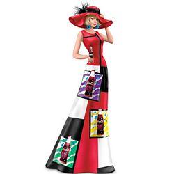 Bubbling Excitement Coca-Cola Woman Figurine