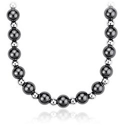 Sterling Silver Duet Bead Necklace