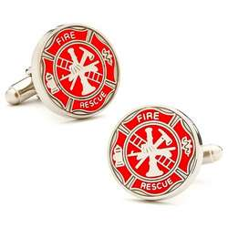 Firemen's Shield Cuff Links