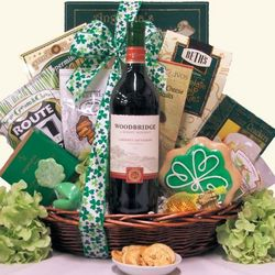 Irish Blessings Red Wine St. Patrick's Gourmet Gift Basket