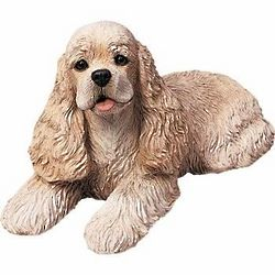 Cocker Spaniel Lying Down Figurine