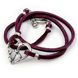 Peace and Love Leather Wrap Bracelet