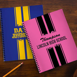 School Spirit Personalized Large Notebooks