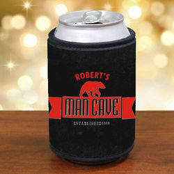 Personalized Man Cave Can Wrap Koozie