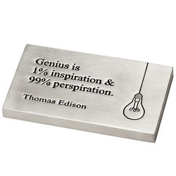 Edison Genius Quote Paperweight