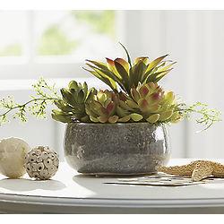 Mini Faux Succulent Garden