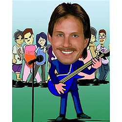 Your Photo in a Guitar Performer Caricature