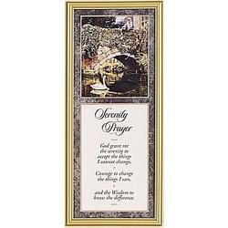 Serenity Prayer Framed Motto