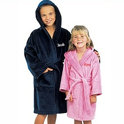 Kid's Terry Velour Hooded Bath Robe