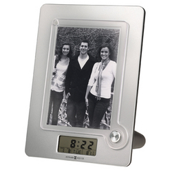 Lara Desktop Clock with Photo Frame & Thermostat