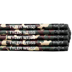 Personalized Round Camouflage Pencils