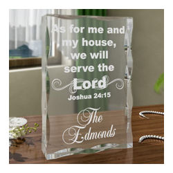 Personalized Serve the Lord Keepsake Plaque