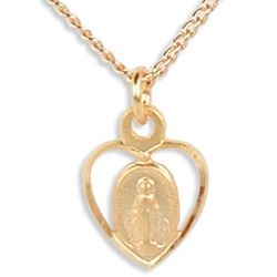 Children's Miraculous Heart Medal Necklace