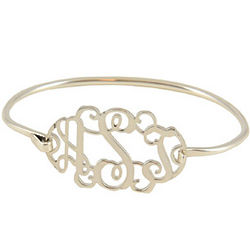 Personalized Filigree Monogram Bracelet