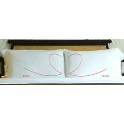 Heartstrings Personalized Pillow Case Set