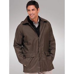 Men's Packable Nylon Raincoat