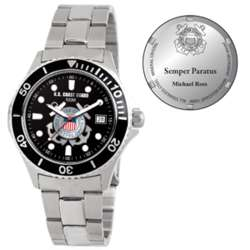 Men's U.S Coast Guard Honor Stainless Steel Watch