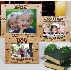 All Our Hearts Personalized Wood Picture Frame