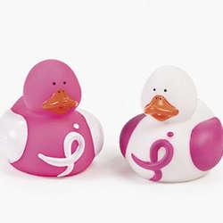 Pink Ribbon Awareness Rubber Duckies