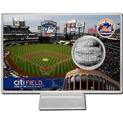CitiField Silver Plated Coin Card