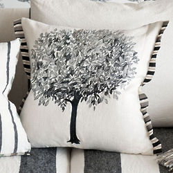 Linnaeus Noir Decorative Pillow