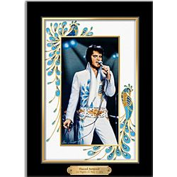 Elvis Presley Peacock Perfection Framed Canvas Print