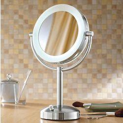 Natural-Light Tabletop Makeup Mirror