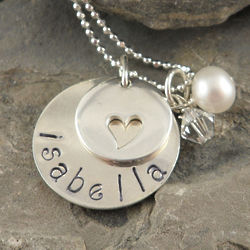 Full of Love Personalized Hand Stamped Necklace