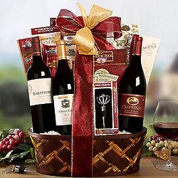 California Syrah, Cabernet and Chardonnay Gift Basket